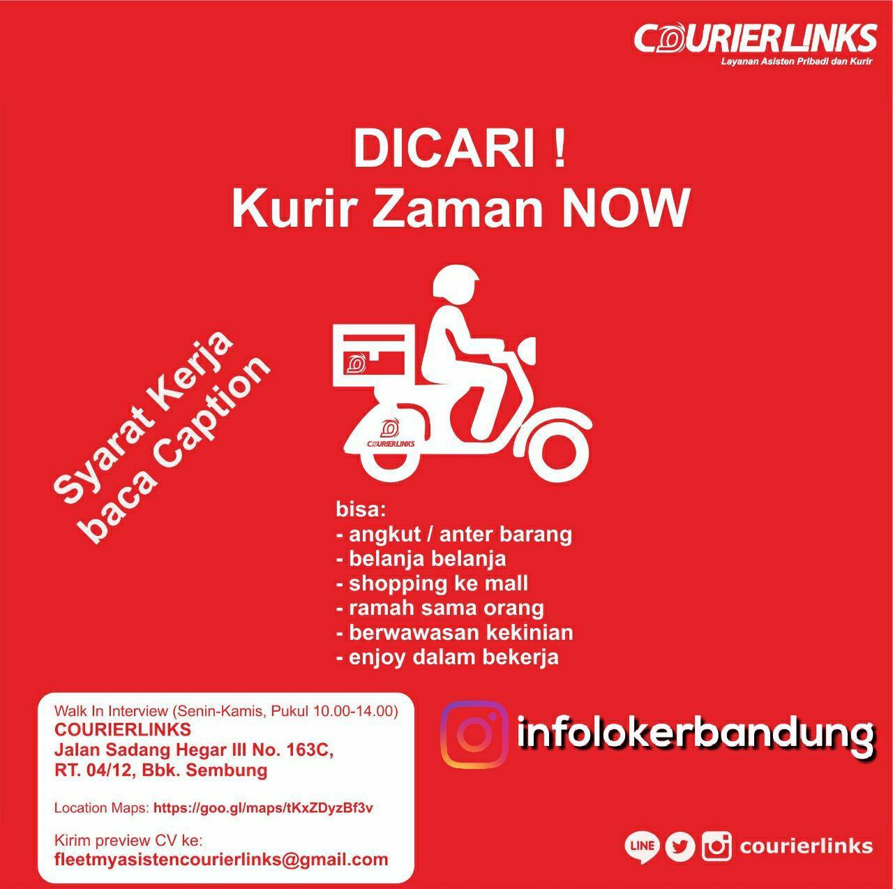 Lowongan Kerja Courier Links Bandung Desember 2017