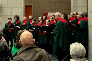 Pierre and his choir perform at the National Gallery, Ottawa