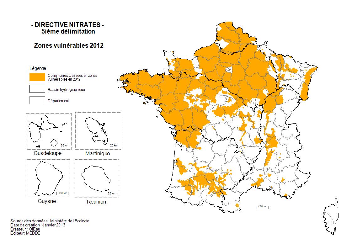 La pollution des eaux en France: octobre 2013