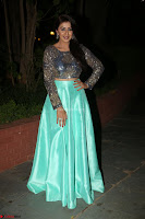 Nikki Galrani in Green Skirt  Top at Marakathamani music launch ~  Exclusive (3).JPG