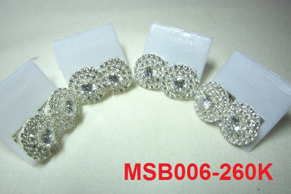 Bông tai đính đá trắng cao cấp MS-B006- Giá: 260,000 VNĐ - Liên hệ mua hàng: 0906 846366(Mr.Giang)