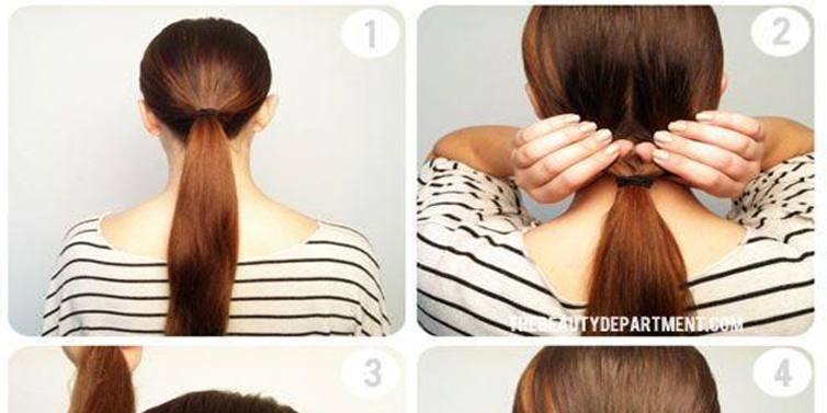 Awesome Cute Twist Amp Flip Bun Hairstyle Tutorial With Simple Steps Hairstyles For Women Draintrainus