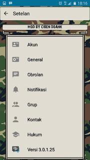 BBM Mod Tema Army v3.0.1.25 Not Clone Apk Terbaru