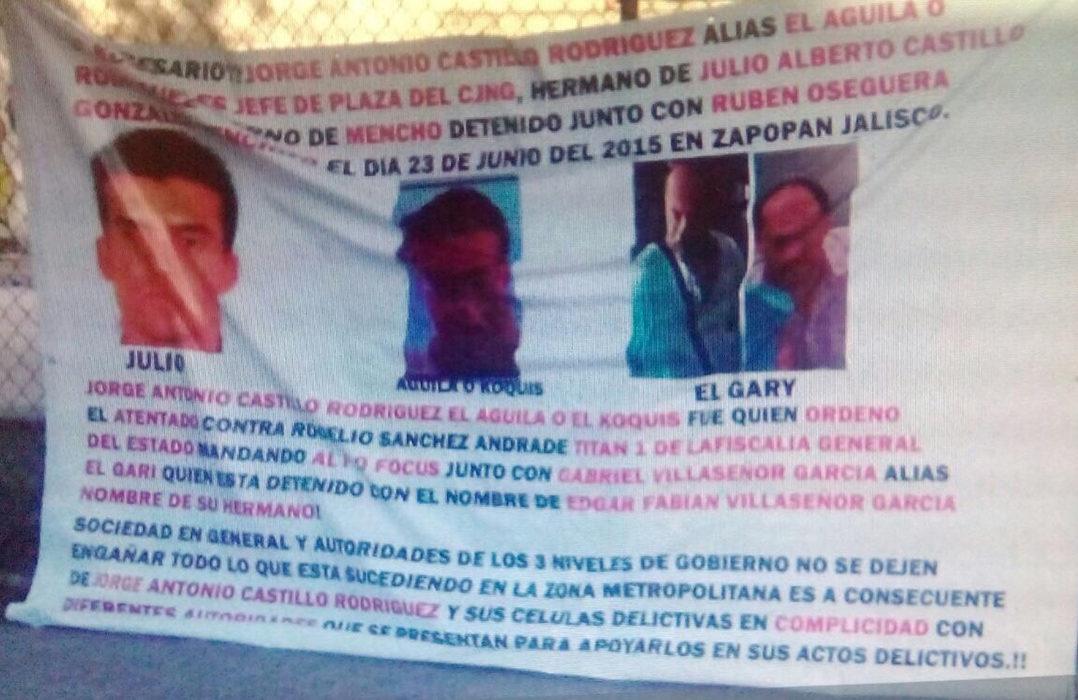 """En narcomantas acusan a empresario """"levantado"""" de ser  """"El AGUILA""""  jefe de plaza del CJNG"""