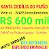 SANTA CECÍLIA DO PAVÃO VAI RECEBER R$ 600 MIL REAIS EM INVESTIMENTOS PARA OBRAS DO GOVERNO DO ESTADO