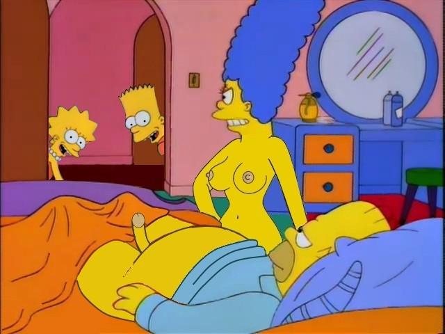 Bart y Lisa teniendo video sexual