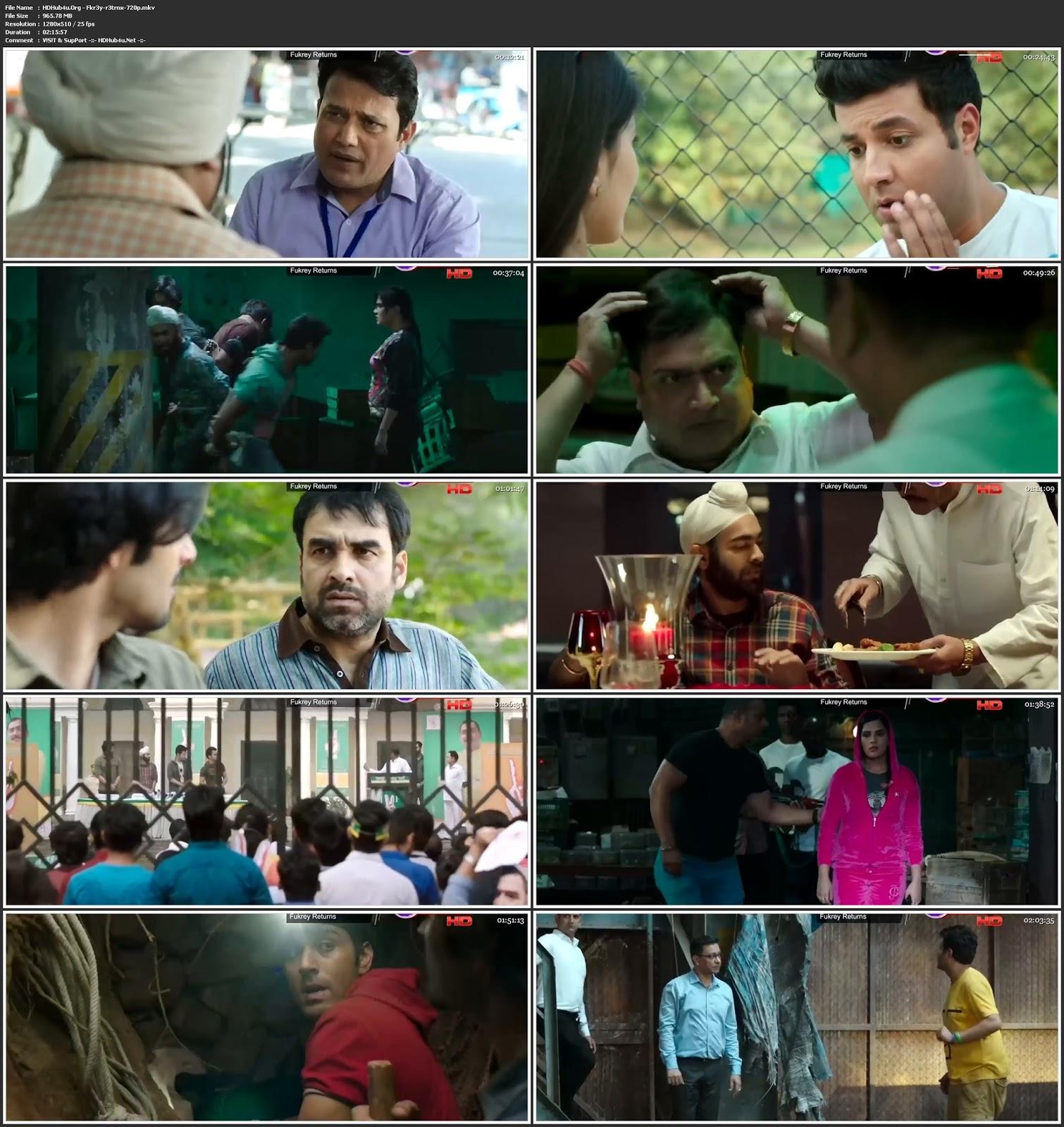 Fukrey Returns 2017 Hindi Movie 480p HDTVRip 400Mb Download
