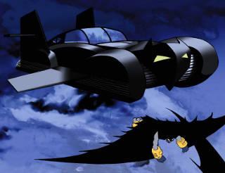 Batman and Batmobile in Dark Knight Strikes Again Vol 2