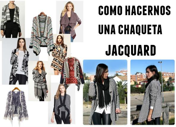 chaqueta jacquard, coser chaqueta jacquard, labores