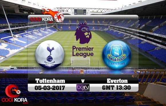 مشاهدة مباراة توتنهام وإيفرتون اليوم 5-3-2017 في الدوري الإنجليزي