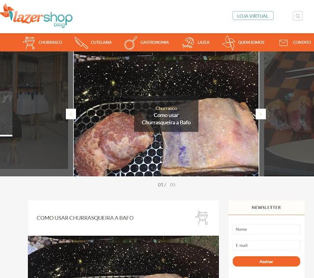 Imagem do blog Lazer Shop - conteúdo para blog otimizado