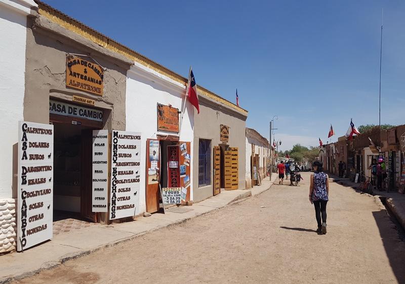 Cambio em San Pedro de Atacama