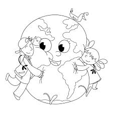 earth day colouring images