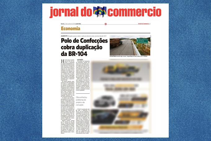 Jornal do Commercio destaca luta das entidades santa-cruzenses em prol da duplicação da BR-104