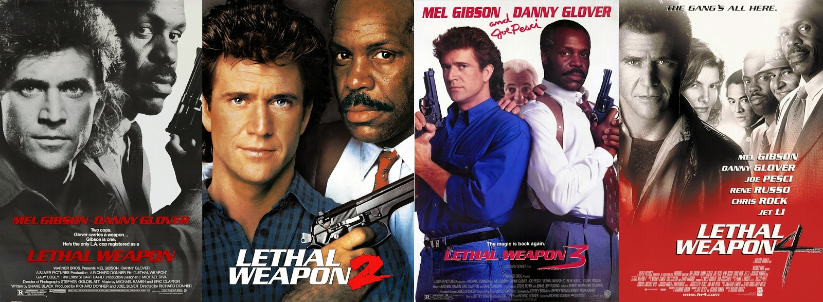 Worth To Watch Lethal Weapon Quadrilogy 1987 1989 1992 And 1998