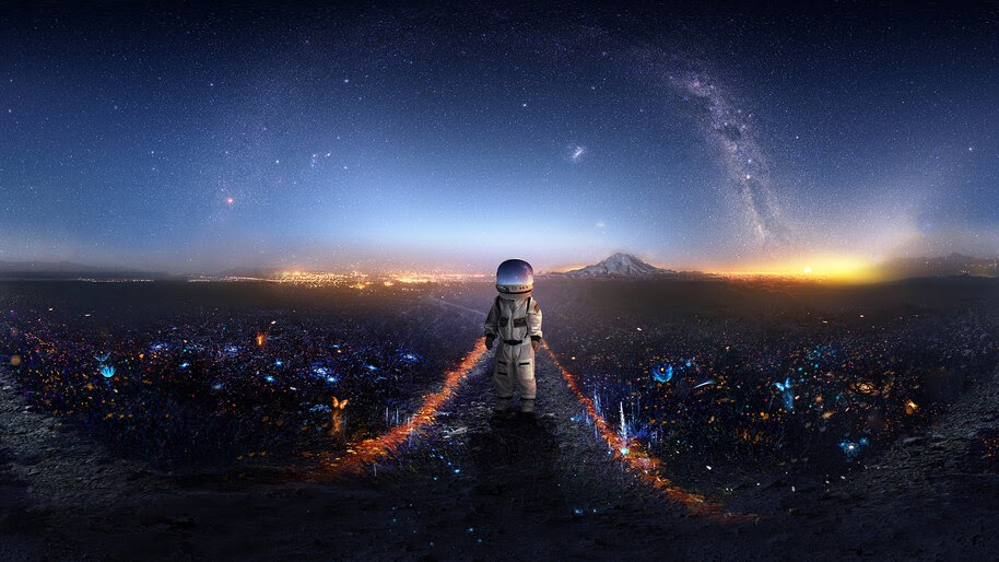Astronaut, Scenery, Digital Art, 4K, #4.1016