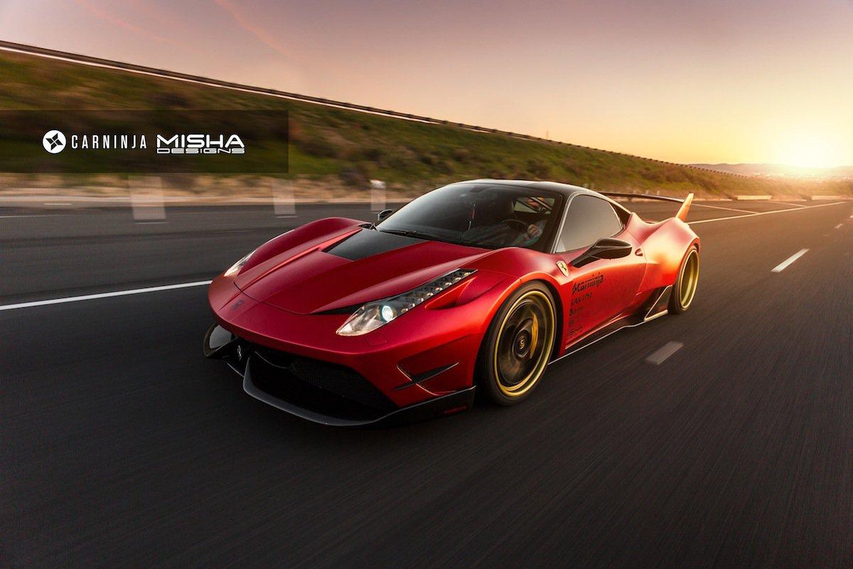 Bản độ Ferrari 458 Italia của Misha Designs khá ấn tượng