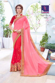 FAIRY VOL 4 SHANGRILA SAREES WHOLESALER LOWEST PRICE SURAT GUJARAT