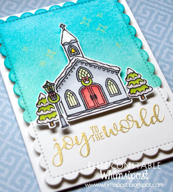 Sunny Studio Stamps: Christmas Chapel and Christmas Home Winter Themed Cards by Elise Constable