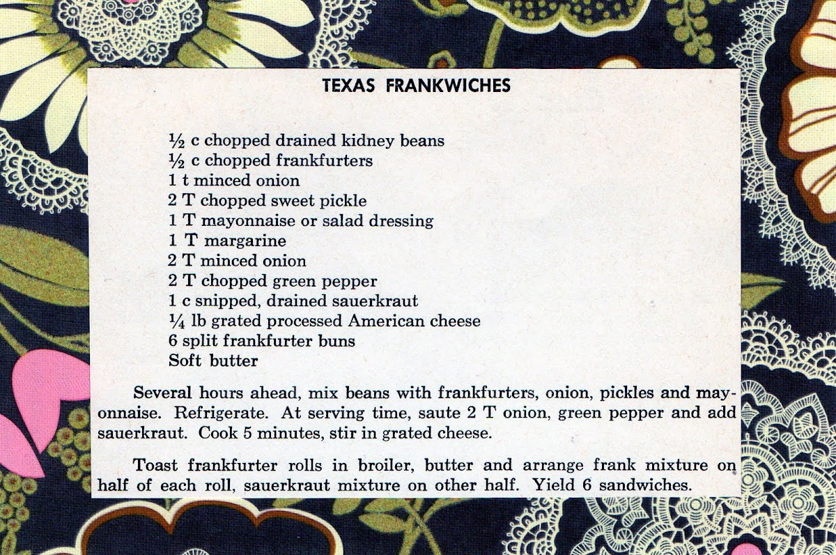 Texas Frankwiches & Cookbook Giveaway Winner (quick recipe)