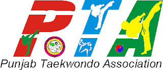 Logo PTA, Punjab Taekwondo Association, Mohali near Chandigarh, India, Martial Art Tkd 'Korean Karate' Training Classes, Self-defence, Fitness, Garhshankar, Kot Maira, Hoshiarpur, Jalandhar, Amritsar, Ludhiana, Patiala, Moga, Sangrur, Ropar, Tkd Academy, Association, Federation