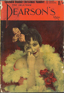 Cover to Pearson's Magazine showing Woman in with a boa