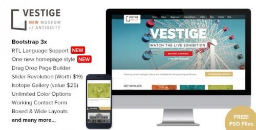 Vestige Museum v1.8.8 – Responsive WordPress Theme