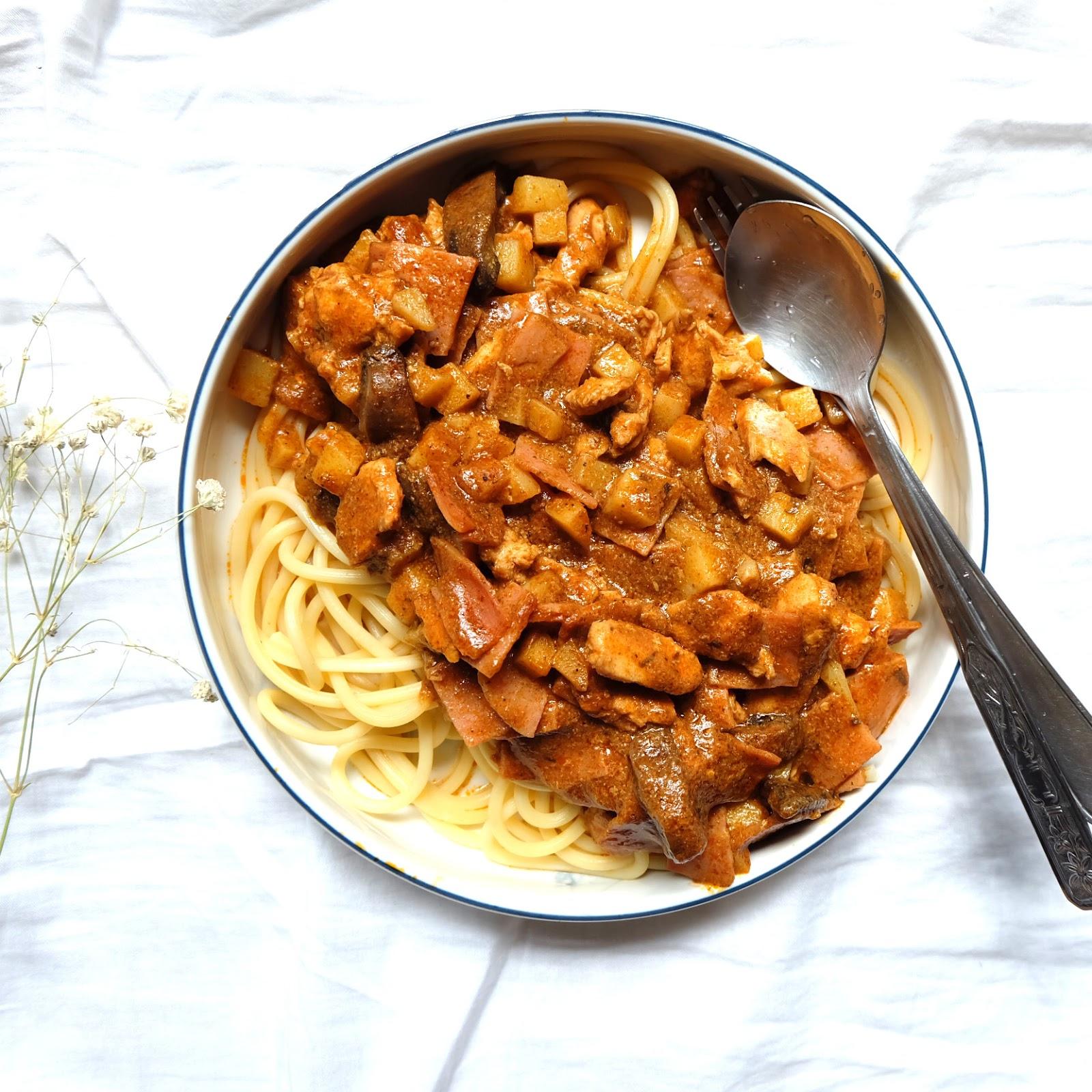 Recipe good pasta recipe in singapore butter chicken curry pasta forumfinder Gallery