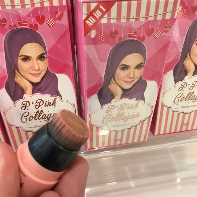 P' Pink Collagen Blusher Stick D'Herbs