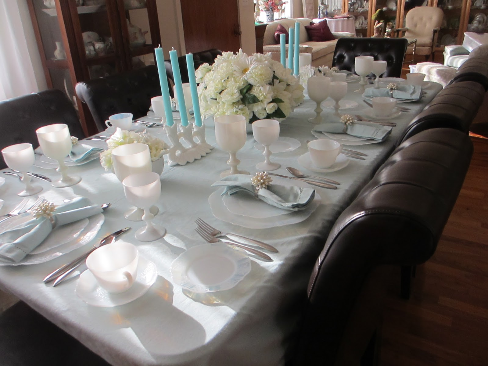 The Welcomed Guest Monax Depression Glass Table