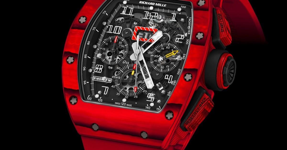 fb57bda9fce Estação Cronográfica  Chegado ao mercado - relógio Richard Mille RM 011 red  TPT® Quartz