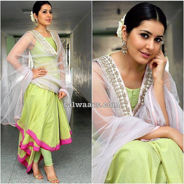 Rasi Khanna Green Churidar
