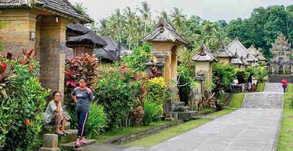 Jalan Utama Di Desa Penglipuran