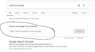 Submit URL to google fast