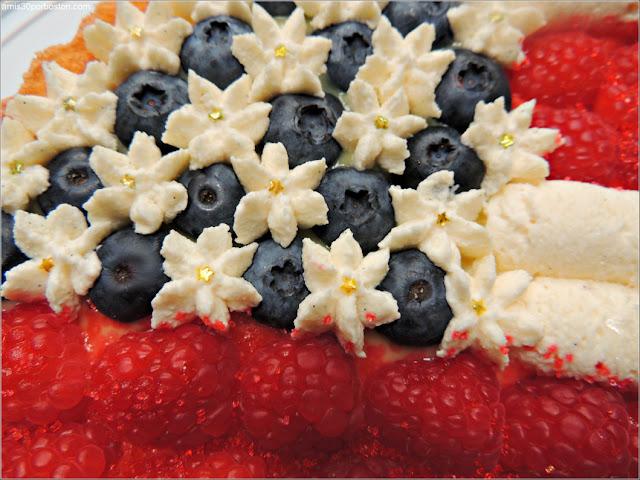 Tarta Americana de Frambuesas y Arándanos