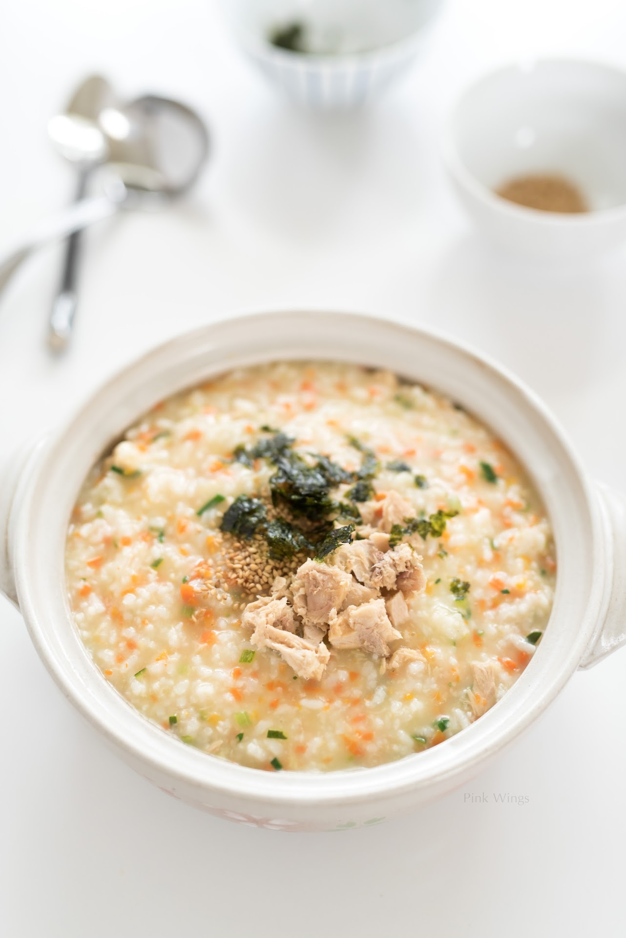 Congee recipe, juk recipe, korean rice porridge recipe, Asian food blog, bonjuk copy cat