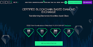 Ulasan Lengkap tentang CEDEX - Certified BlockChain Based Diamond Exchange