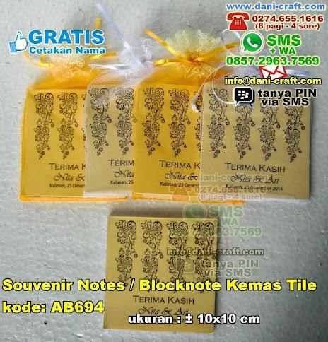 Souvenir Notes Blocknote Kemas Tile