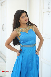 Telugu Actress Akshita (Pallavi Naidu) Latest Stills in Blue Long Dress at Inkenti Nuvve Cheppu Movie Promotions  0034.jpg