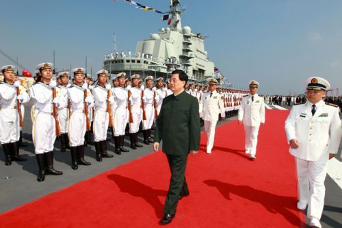 Peresmian kapal induk China Liaoning