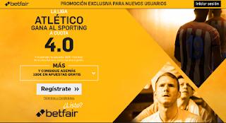 betfair supercuota 4 Atlético gana Sporting Liga 17 septiembre