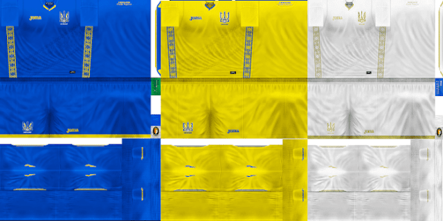 PES 6 Kits Ukraine National Team Season 2018/2019