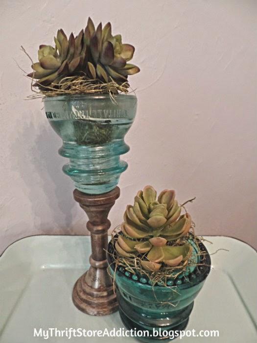 Vintage insulator vases