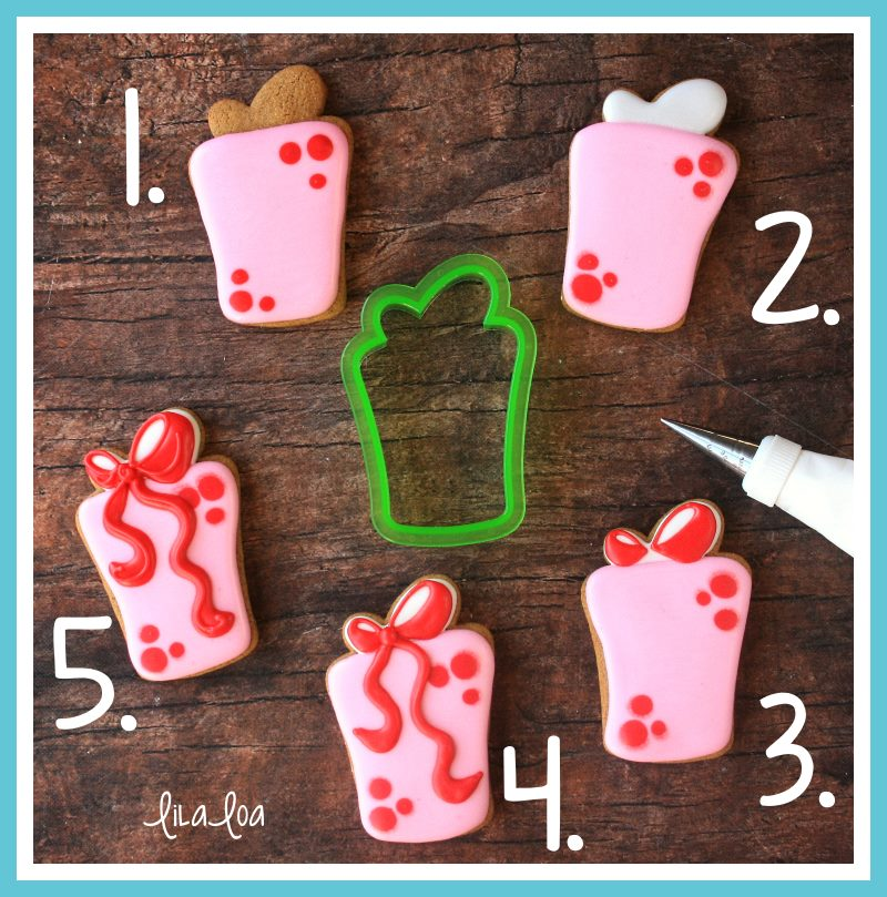 Present sugar cookie decorating tutorial
