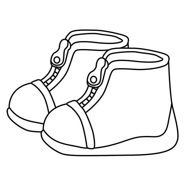 zapatos para colorear infantiles