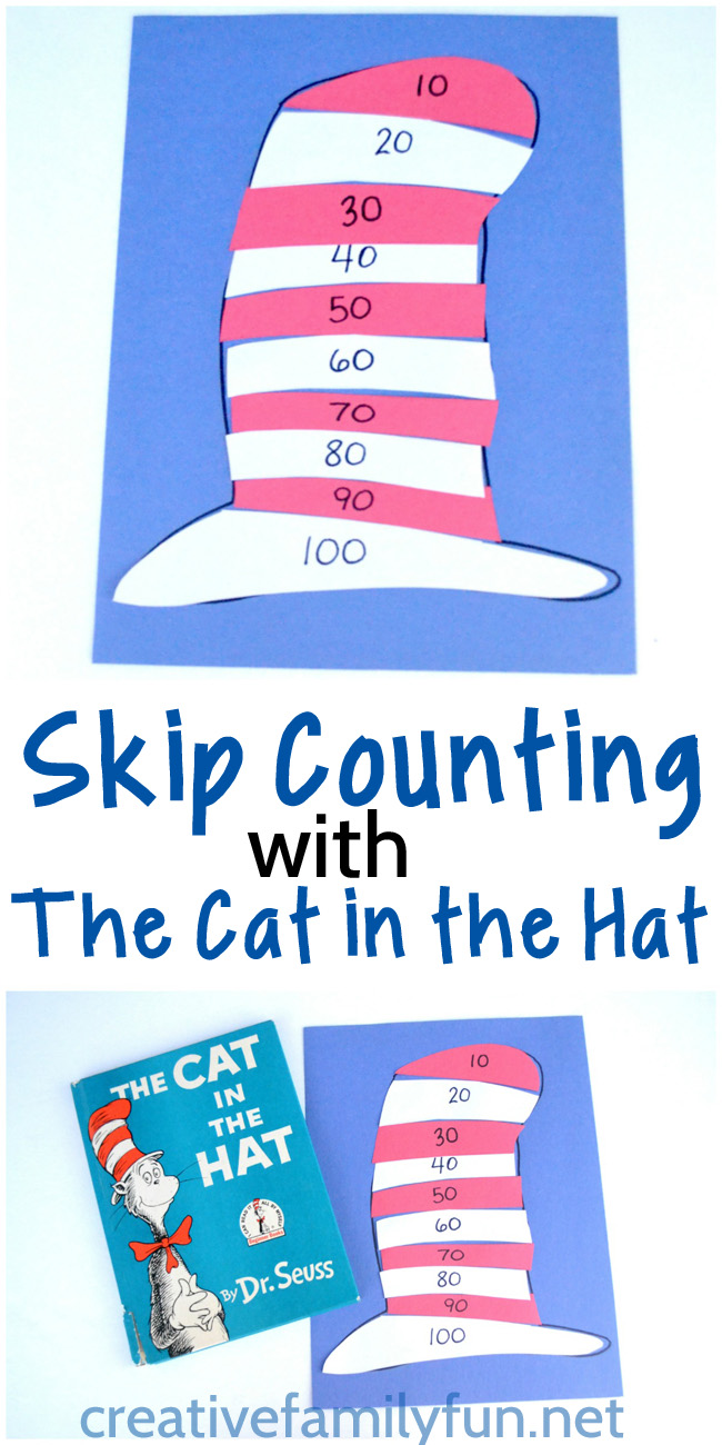 Learn to skip count by 10 with this fun game inspired by The Cat in the Hat.