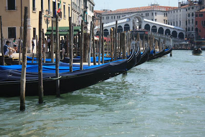 Gondolas on Grand Canal of Venezia