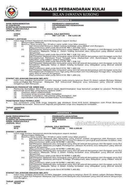 Jawatan Kosong Majlis Perbandaran Kulai (MP Kulai) Ogos 2016