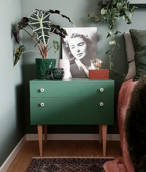 Intérieur danois green et vintage
