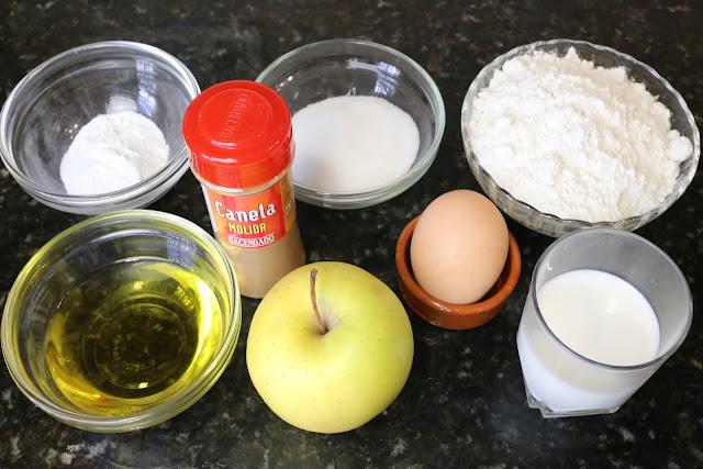 Ingredientes para buñuelos de manzana